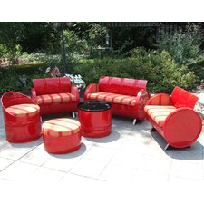 Best Choices Bravada Salsa Indoor/Outdoor 6 Piece Seating Group with Cushion
