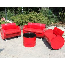 Today Only Sale Very Red 4 Piece Seating Group with Cushion