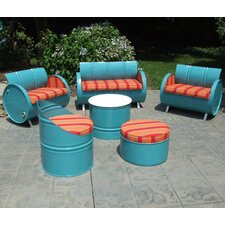 Tahoe Indoor/Outdoor Garden Patio 6 Piece Seating Group with Cushion
