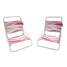 Wonderful Foldable Sun and Sand Chair (Set of 2)