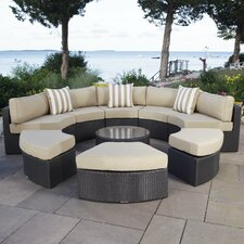 Santorini 9 Piece Daybed Set with Cushions