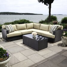Salina 5 Piece Sectional Set with Cushions