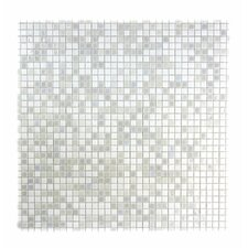 """Galaxy Straight 0.31"""" x 0.31"""" Glass Mosaic Tile in White"""