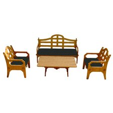 Palladian Solid 9 Piece Lounge Seating Group with Cushions