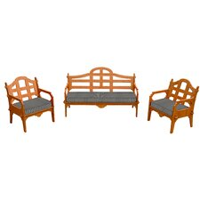 Palladian Striped 6 Piece Lounge Seating Group with Cushions