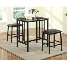 Citico Counter Height 3 Piece Pub Table Set