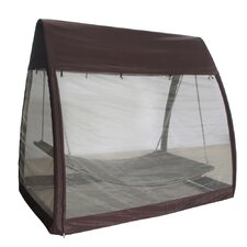 Top Reviews Outdoor Arched Canopy Cover Hanging Swing Polyester Hammock with Stand