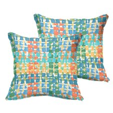 Momea Flange Indoor/Outdoor Throw Pillow (Set of 2)
