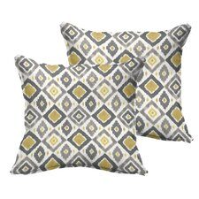 Socoma Flange Indoor/Outdoor Throw Pillow (Set of 2)