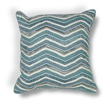 Zelma Indoor/Outdoor Chevron Cotton Beading Throw Pillow