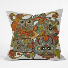 Deepak 4 Owls Indoor/Outdoor Throw Pillow