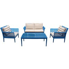 Aston 4 Piece Deep Seating Group with Cushion