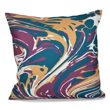 Willa Marble Blend Geometric Outdoor Throw Pillow