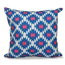 Willa Jodhpur Kilim 2 Geometric Outdoor Throw Pillow