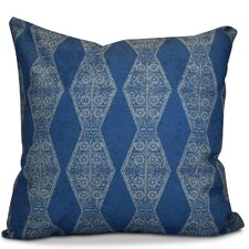 Soluri Pyramid Striped Geometric Outdoor Throw Pillow