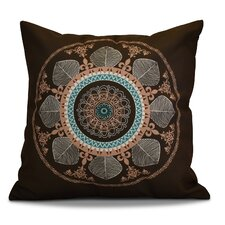 Soluri Stained Glass Geometric Outdoor Throw Pillow