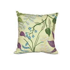 Vinoy Botanical Floral Outdoor Throw Pillow