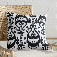 Sabrina Ikat Geometric Outdoor Throw Pillow