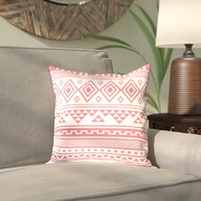 Antram Coral Tribal Outdoor Throw Pillow
