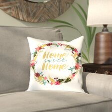 Antes Home Sweet Home Outdoor Throw Pillow