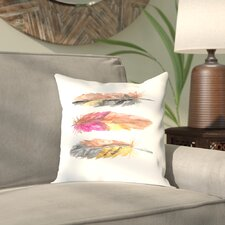 Malhotra Tri Feather 2 Outdoor Throw Pillow