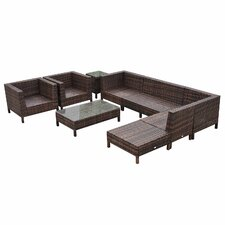 9 Piece Lounge Seating Group with Cushions