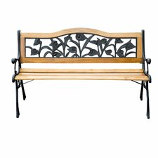 Floral Outdoor Park Bench