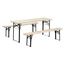 3 Piece Outdoor Folding Picnic Table Set