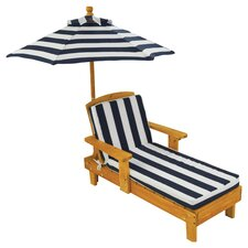 Great Reviews Chaise Lounge with Cushion and Umbrella
