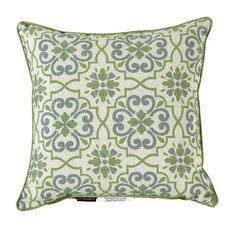 Outdoor Damask Throw Pillow (Set of 2)