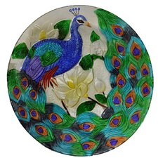 2017 Coupon Peacock Glass Plate