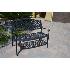 Houma Cast Aluminum Garden Bench