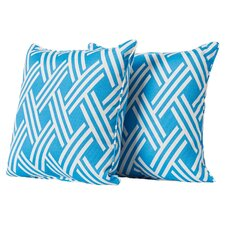 Troyer Corded Indoor/Outdoor Throw Pillow (Set of 2)
