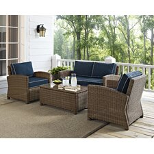 Middlesex 4 Piece Deep Seating Group with Cushion