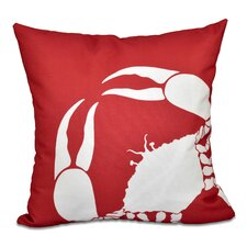 Shirley Mills Crab Outdoor Throw Pillow