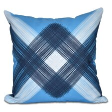 Hancock String Art Geometric Print Outdoor Throw Pillow