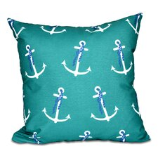 Hancock Anchor Whimsy Geometric Print Outdoor Throw Pillow