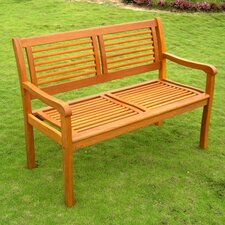 Sabbattus Bar Harbor Wood Garden Bench