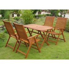 Sabbattus Vendrell 5 Piece Dining Set