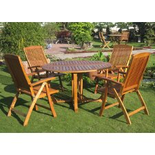 Sabbattus Teruel 5 Piece Dining Set