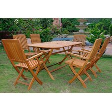 Lovely Sabbattus Andorra 7 Piece Dining Set