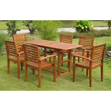Sabbattus Mataro 7 Piece Dining Set