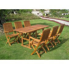 Sabbattus Bascara 7 Piece Dining Set