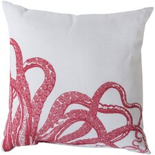Orchid Eye Catching Octopus Outdoor Throw Pillow