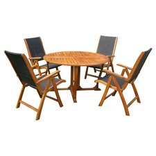 Sabbattus 5 Piece Outdoor Dining Set