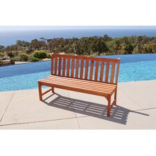 Amazing Bucksport Eco-friendly 5' Outdoor Hardwood Garden Armless Bench