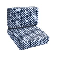 Peletier 2 Piece Outdoor Chair Cushion Set
