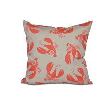 Hancock Lobster Fest Coastal Outdoor Throw Pillow