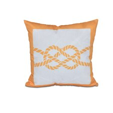 Hancock Nautical Knot Geometric Outdoor Throw Pillow