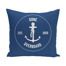 Sale Hancock Gone Overboard Word Outdoor Throw Pillow
